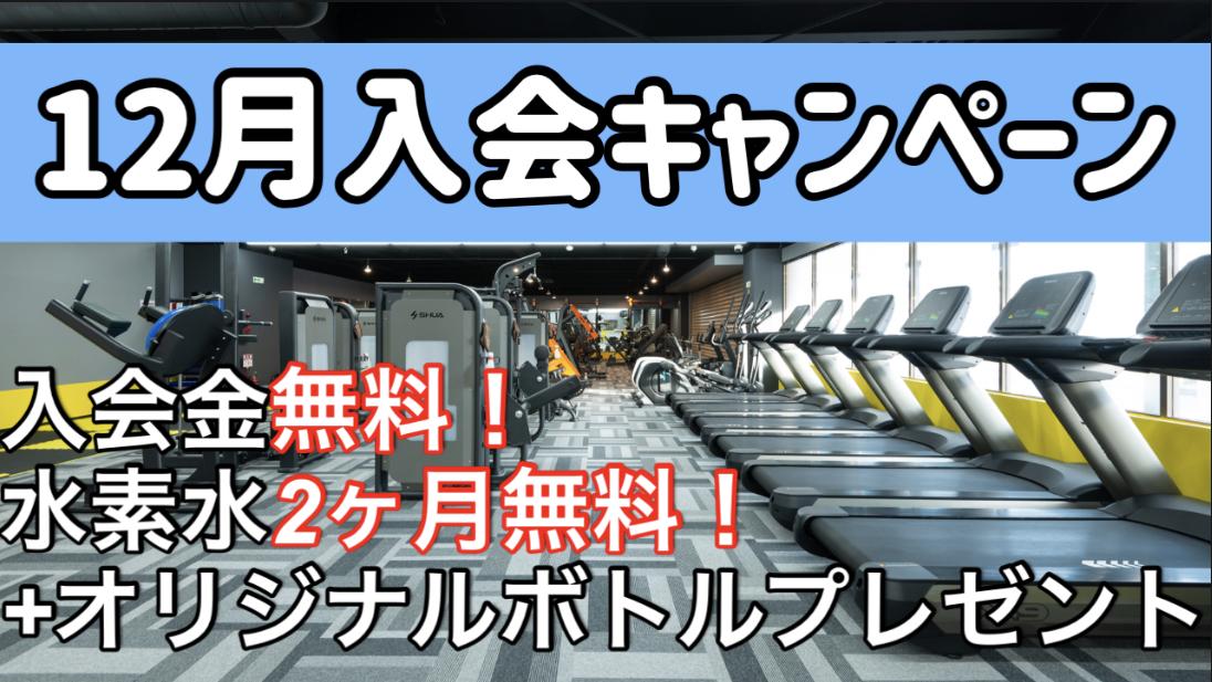12月入会キャンペーンスタート!